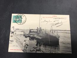 233 - LA NOUVELLE Torpilleur Dans Le Port - 1911 Timbrée - Port La Nouvelle