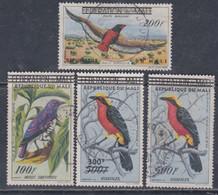 MALI  P. A.  N° 5 / 8 O Oiseaux Surchargés, Les 4 Valeurs Oblitérées, TB - Mali (1959-...)