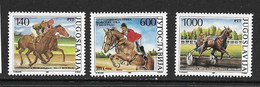 YOUGOSLAVIE 1988 COURSES DE CHEVAUX  YVERT N°2176/78  NEUF MNH** - Horses