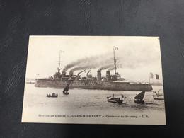 Marine De Guerre JULES MICHELET Croiseur De 1er Rang - 1919 - Guerra