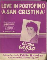 """""""Love In Portofino""""(A San Cristina) Gloria Lasso - Paroles Françaises Jacques Larue - Musique De F. Buscaglione - Other"""
