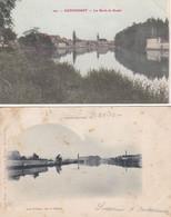 Cpa Dept 25 - Audincourt - Lot De 2 Cpa - Les Bords Du Doubs Et Les Forges(circulé En1905 Et 1901 Voir Scan Recto-verso) - Montbéliard