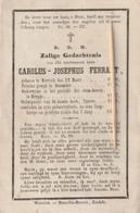 Priester, Pretre, Abbé, Carolus Ferrant, Wervik, Wercicq, Brugge, Yperen, Ieper, 1866 - Godsdienst & Esoterisme