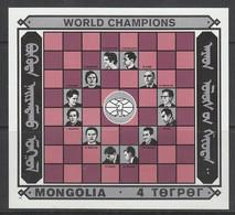BLOC NEUF DE MONGOLIE - CHAMPIONS DU MONDE D'ECHECS N° Y&T 114 - Schach