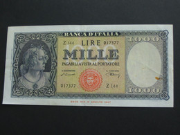 1000 Mille LIRE 1948  - ITALIE - Banca D'Italia  **** EN ACHAT IMMEDIAT **** - [ 2] 1946-… : Républic