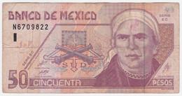 Mexico P 117 B - 50 Pesos 26.3.2002 - Fine - Mexiko