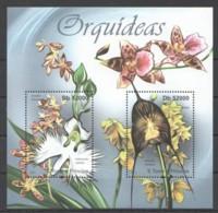BC920 2011 S.TOME E PRINCIPE FLORA FLOWERS ORCHIDS ORQUIDEAS 1BL MNH - Orchideeën