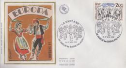 Enveloppe  FDC   FRANCE   LA  SARDANE   AMELIE  LES  BAINS   PALALDA     EUROPA    1981 - 1981
