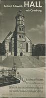 Deutschland - Schwäbisch Hall 1936 - Faltblatt Mit 10 Abbildungen - Grosse Karte Schwäbisch Hall Aus Der Vogelperspektiv - Dépliants Turistici