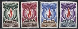 France - Frankreich Service 1969-71 Y&T N°S39 à 42 - Michel N°DU9 à 12 *** - UNESCO - Service