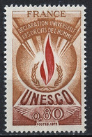 France - Frankreich Service 1975 Y&T N°S44 - Michel N°DU14 *** - 80c UNESCO - Neufs