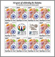 CHAD 2020 MNH Mahatma Gandhi M/S - OFFICIAL ISSUE - DHQ2033 - Mahatma Gandhi