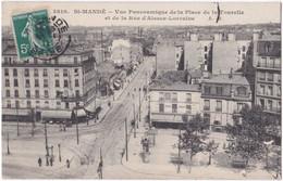 94. ST-MANDE. Vue Panoramique De La Place De La Tourelle Et De La Rue D'Alsace-Lorraine. 3810 - Saint Mande