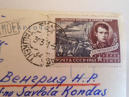 D173607  Esperanto Correspondence  1961  Tashkent Uzbekistan  To Miskolc Hungary  - Prince Yuri Dolgorukov  Statue - Esperanto