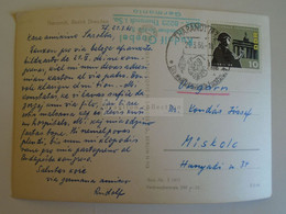 D173610  Esperanto Correspondence  Ca 1966  Rudolf Goebel -   Tharandt (bezirk Dresden) To Miskolc - Esperanto