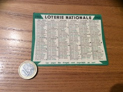 Calendrier 1960 « LOTERIE NATIONALE » - Kalender