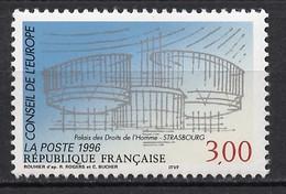 France - Frankreich Service 1996 Y&T N°S116 - Michel N°DCE53 *** - 3f Conseil De L'Europe - Neufs