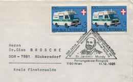 100 Jahre ärztlicher Rettungsdienst In WIen - Dr. Jaromir Mundy - Wiener Rettung 1150 1981 - Rettungswagen - First Aid