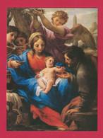 SANTINO MADONNA CON BAMBINO CON MESSAGGIO DI SAN  GIOVANNI PAOLO II E FIRMA - Images Religieuses