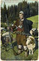 Bulgarien Bulgarie Owtscharo Ot Rodopite Gewehr Pistole Berg Schaf Berger Bulgare Aux Rodope Color Bulgaria,rifle,sheep - Bulgarie