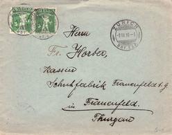 SUISSE - LETTER 1910 ZÜRICH -> FRAUENFELD/THURGAU /AS175 - Cartas