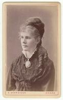CDV Photo Foto Um 1875/80 - S. Schroeder, Hanau -hübsche  Junge Dame Mit Zeittypisch Schöner Frisur - Old (before 1900)