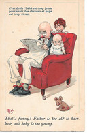 Illustrator - Mich - Humour, Père Et Enfants, Ours En Peluche, Humor, Father And Children, Teddy Bear, Teddybär - Mich