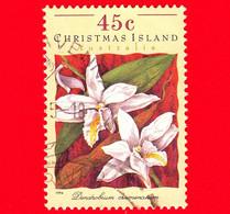 CHRISTMAS ISLAND  Isole Di Natale - Usato - 1994 - Orchidee - Dendrobium Crumenatum - 45 - Christmas Island