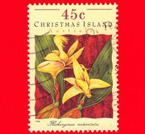 CHRISTMAS ISLAND  Isole Di Natale - Usato - 1994 - Orchidee - Flickingeria Nativitatis - 45 - Christmas Island