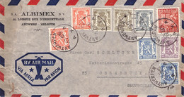 BELGIUM - AIRMAIL 1948 ANTWERPEN - OSNABRÜCK  /AS177 - Briefe U. Dokumente
