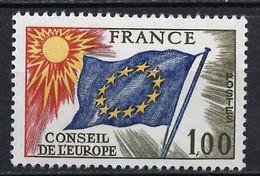 France - Frankreich Service 1976 Y&T N°S49 - Michel N°DCE19 *** - 1f Conseil De L'Europe - Neufs