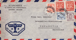 BELGIUM -  AIRMAIL 1948 ANTWERPEN - OSNABRÜCK /AS178 - Briefe U. Dokumente