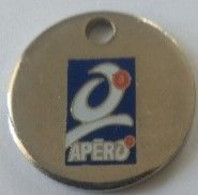 Jeton De Caddie - 0 - APÉRO - Apéritifs Sans Alcool - BOUGUET PAU SA - En Métal - - Trolley Token/Shopping Trolley Chip