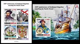 SIERRA LEONE 2020 - Ferdinand Magellan, M/S + S/S Official Issue [SRL200410] - Sierra Leone (1961-...)