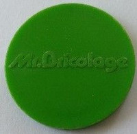 Jeton De Caddie - Mr. Bricolage - En Plastique - - Trolley Token/Shopping Trolley Chip