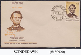 INDIA - 1965 ABRAHAM LINCOLN FDC - FDC