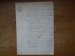 Assez Rare Acte Notarial Sous Louis Philippe Roi Des Français Avec Tout Les Cachets Et Timbres Royaux En L'an 1840 - Manuskripte