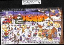 [515725]TB//**/Mnh-Belgique 2002 - N° 3101/10, Dans Un Bloc De 10, Noël, Fêtes, Enfants - Christmas