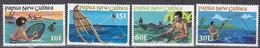 Papua-Neuguinea 1981 - Mi.Nr. 418 - 421 - Postfrisch MNH - Fischfang Fishing - Papua New Guinea