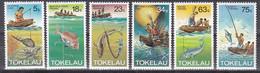 Tr_ Tokelau 1982 - Mi.Nr. 78 - 83 - Postfrisch MNH - Fischfang Fishing - Tokelau
