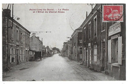 SAINT LOUP DU DORAT      La Poste  Et L Hôtel   Du Cheval Blanc  (recto Verso) - Frankreich
