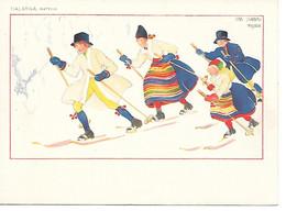 Illustrator - Aina Stenberg - Masolle  / Swedish Family On Skis, Famille Suédoise Sur Les Skis, Schwedische Familie Auf - Other Illustrators