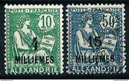 Alejandría (Francesa) Nº 61/2(*)/º - Alexandrie (1899-1931)