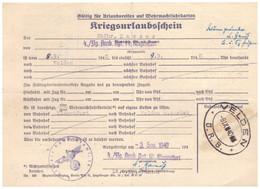 Dt- Reich (020300) Kriegsurlaubschein 4./FLG Ausb.Rgt 14, Klagenfurt Vom 3.9.1940 - Covers & Documents