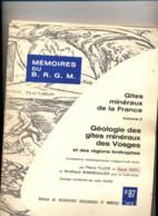 Memoire BRGM 1975 Geologie Des Gites Miniers Des Vosges  Fluck - Boeken, Tijdschriften, Stripverhalen