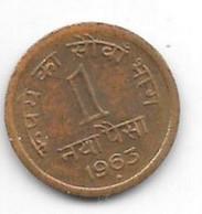 *india  1 Paisa 1963 B Km 8a Unc/ms63 - India