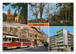 Yugoslavia (Croatia) - Osijek - Multi View - Tram - Jugoslavia