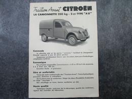 """Traction Avant CITROËN - La Camionnette 250kg - 2cv TUPE """"AU"""" - Voitures"""