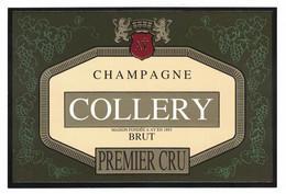 ETIQUETTE CHAMPAGNE 750 ML COLLERY BRUT PREMIER CRU MAISON FONDEE A AY EN 1893 - Champagne