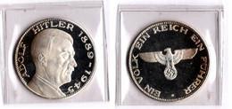 Adolf Hitler 1889 -1945 Gedenkmünze Silber - [10] Commemorative